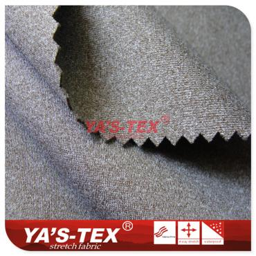 Cationic knitted composite, three layers soft shell fabric