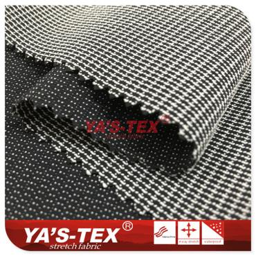 Polyester nylon blended four-way stretch, hard point jacquard climbing cloth