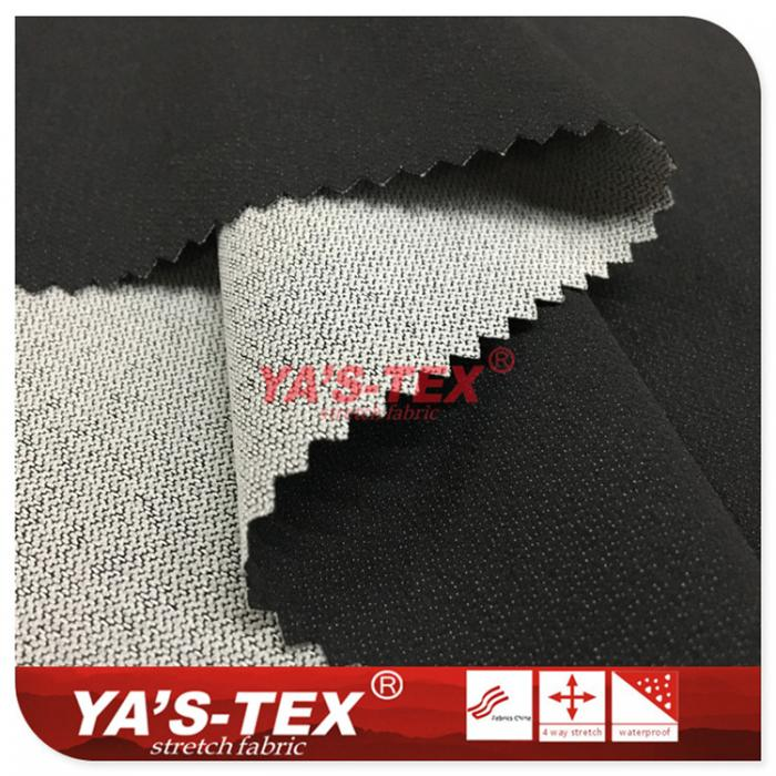 Polyester nylon blended four-way stretch, white point jacquard wear