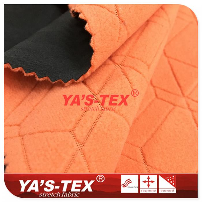 Four-way elastic composite fancy (pumping) Polar fleece, embossed style