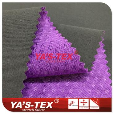 100D Twill polyester four-way stretch composite knitted embossed cloth