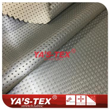 Reflective function coated fabric, knitted stretch perforated cloth
