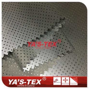 Reflective function coated perforated fabric, polyester non-stretch special clothing materials