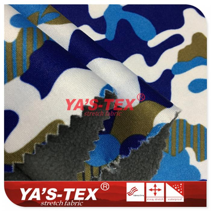 Knitted stretch composite fleece three layers of warm soft shell fabric