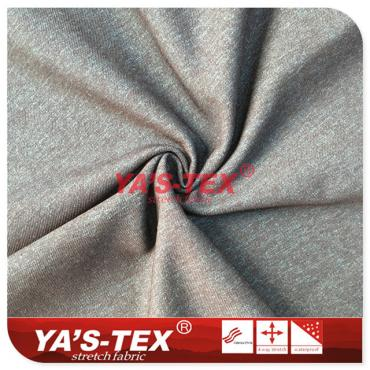 Two-color cationic polyester no-stretch fabric