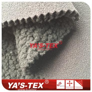 Polyester knitted four - way stretch compound cashmere