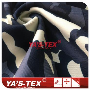 Camouflage printing knitted fabric composite fleece