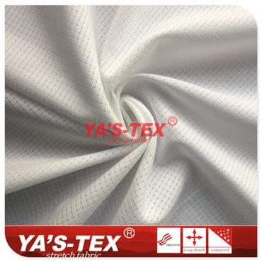 Polyester non-elastic well pattern hollow