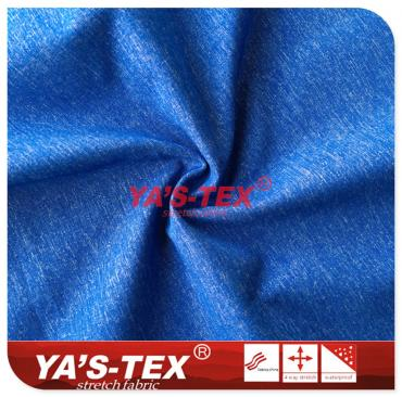 Cationic polyester stretch fabric without spandex