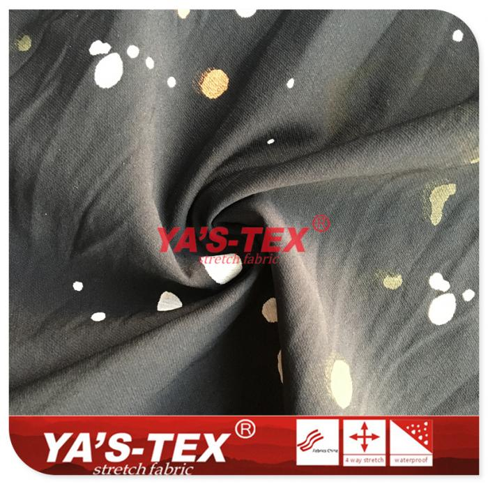 Nylon polyester blended four-way stretch, paint printing