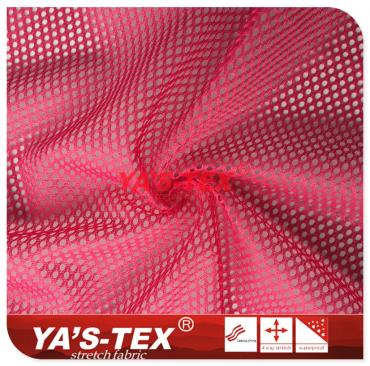 Knitted mesh cloth, polyester stretch, large and dense