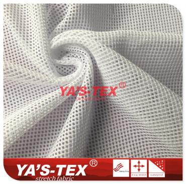Polyester mesh fabric, knitted stretch