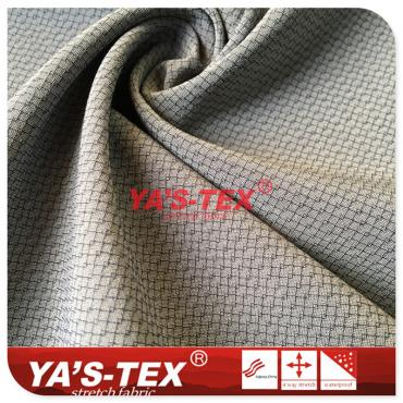 Polyester four-way stretch, grid-type wear-resistant cloth