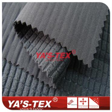 Four-way stretch composite lattice fleece, winter warm clothing fabric, rectangular lattice