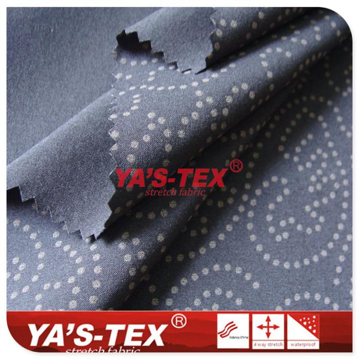 Polyester four-way stretch, reflective printing,outdoor stretch sportswear fabric