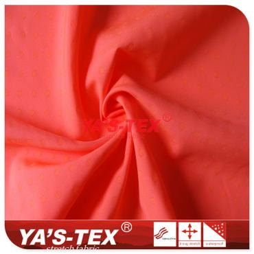 Fluorescent, luminous, polyester non-stretch fabric