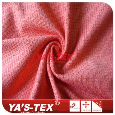 Nylon polyester blended yarn, knitted diamond lattice, soft and wear-resistant stretch yoga fabric