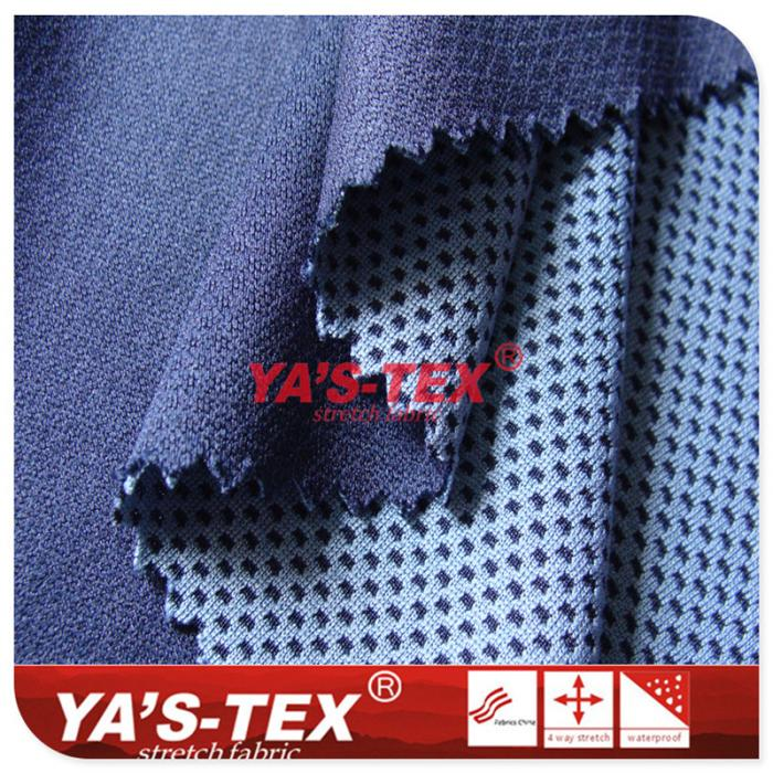Cationic polyester honeycomb fabric