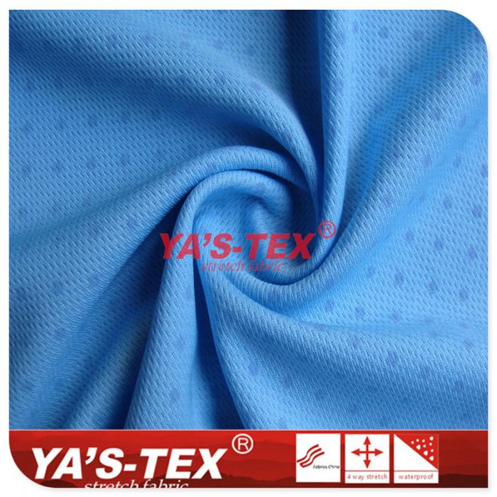 Photochromic functional fabric, knitted bird eye cloth, dot pattern sports stretch fabric