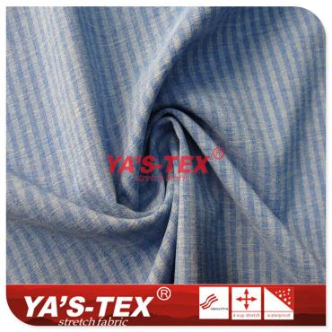 Polyester four-way stretch, two-color cation, horizontal stripes, wear-resistant trousers sports fabric