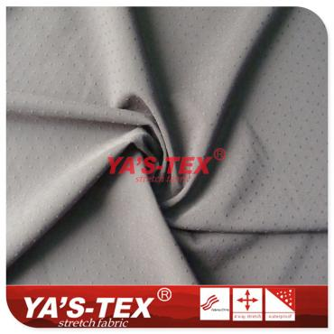 Point jacquard, polyester four-way stretch, wear-resistant breathable outdoor sportswear pants fabric