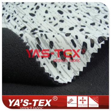 Polyester printed four-way elastic, composite graphene fleece, reflective function