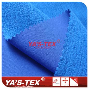 Polyester four-way elastic composite bamboo fleece, three-layer composite soft shell