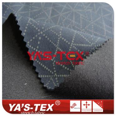 Point reflective printing pattern, knitted fabric composite TPE, three-layer composite elastic soft shell fabric