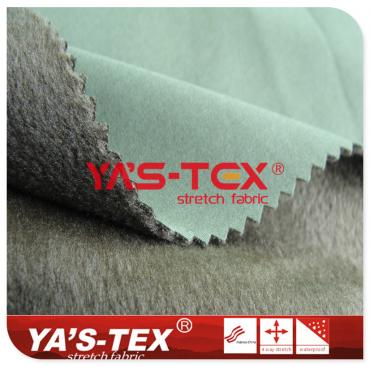 75D polyester four-way elastic composite super soft velvet fabric, three layers of warm soft shell