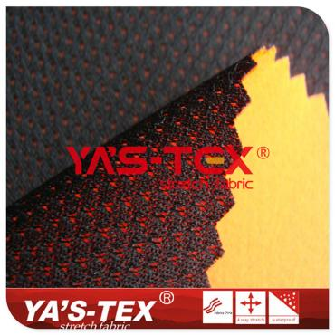 Four-way elastic composite butterfly mesh, three-layer composite elastic soft shell windbreaker fabric