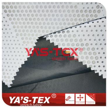 190T Polyester pongee, no stretch, dot reflective windbreaker jacket fabric