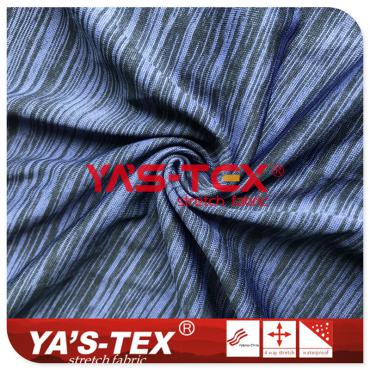 Two color cationic knitted fabric, light and breathable, high elastic fabric