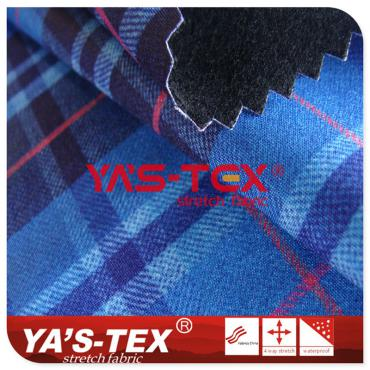 Printed 4-way elastic composite knitted pullover, TPE composite