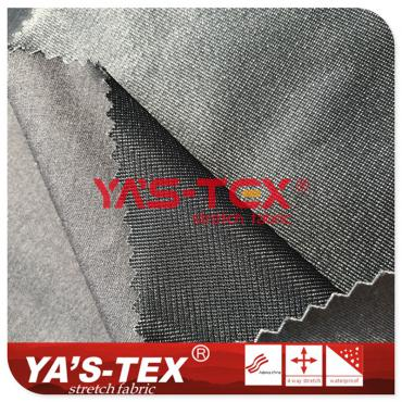 Polyester Rayon blend four-way stretch composite Tricot, three-layer soft shell charge clothing fabric