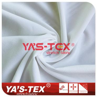 50D polyester plain weave four-way stretch, narrow width, spandex stretch, sportswear fabric