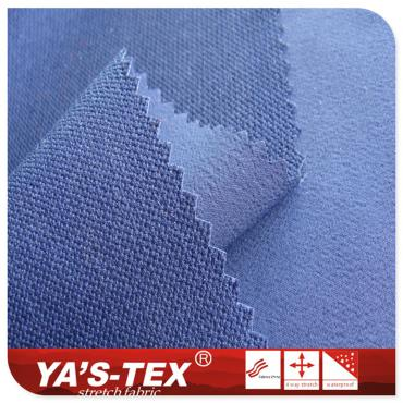 Polyester jacquard four-way stretch, pearl point, cotton feel, stretch sports fabric