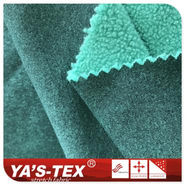 Cationic stretch polar fleece, spandex stretch, soft and warm, winter clothing fabric